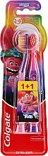 """Parfüm, Parfüméria, kozmetikum Gyerek fogkefe """"Smiles"""", 2-6 korig, lila-rózsaszín, extra lágy - Colgate Smiles Kids"""