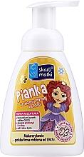 Parfüm, Parfüméria, kozmetikum Hab intim higiéniához gyerekeknek, hercegnő 2 sárga háttéren - Skarb Matki Intimate Hygiene Foam For Children