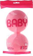 Parfüm, Parfüméria, kozmetikum Fürdőpamacs szett, 2 db, rózsaszín - Suavipiel Baby Soft Sponge
