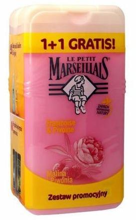 """Szett """"Málna és bazsarózsa"""" - Le Petit Marseillais (sh/gel/250ml + sh/gel/250ml)"""