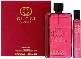 Parfüm, Parfüméria, kozmetikum Gucci Guilty Absolute Pour Femme - Szett (edp/90ml + edp/mini/7,4ml)