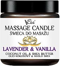 Parfüm, Parfüméria, kozmetikum Masszázsgyerty levendulával és vaníliával - VCee Massage Candle Lavender & Vanilla Coconut Oil & Shea Butter