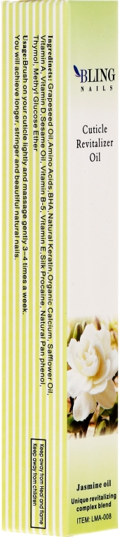 """Kutikula olaj """"Jázmin"""" - Bling Nails Cuticle Revitalizer Oil Jasmine Oil"""