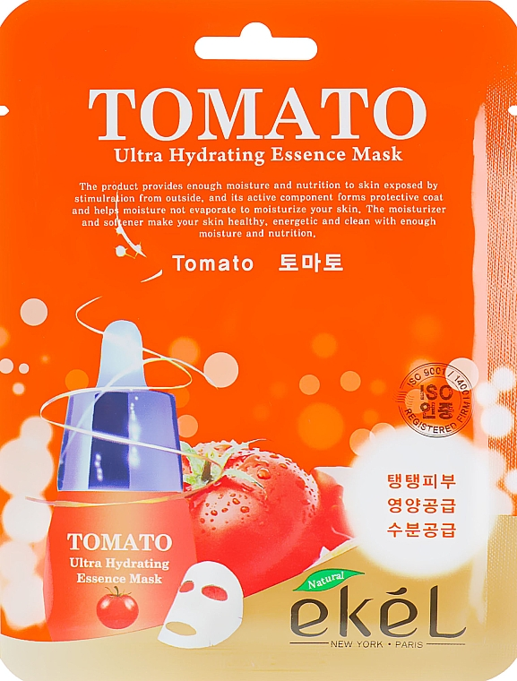 Szövetmaszk paradicsom kivonattal - Ekel Tomato Ultra Hydrating Mask