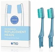 Parfüm, Parfüméria, kozmetikum Cserélhető fogkefefej, közepesen lágy, kék - TIO Toothbrush Medium