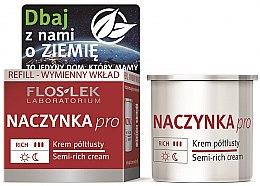 Parfüm, Parfüméria, kozmetikum Félzsíros arckrém - Floslek Dilated Capillaries Semi-Rich Cream Refill (csere blokk)