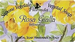 """Parfüm, Parfüméria, kozmetikum Természetes szappan """"Sárga rózsa"""" - Florinda Sapone Vegetal Soap Yellow Rose"""