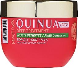 Parfüm, Parfüméria, kozmetikum Intenzív ápoló maszk festett hajra - Kativa Quinua PRO Deep Treatment