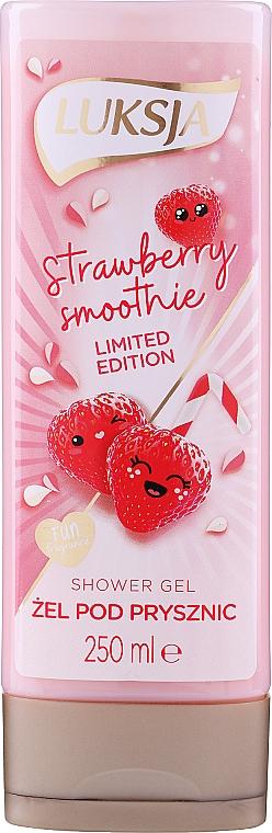 "Krém-gél tusfürdő ""Eper gyümölcsturmix"" - Luksja Coconut Strawberry Smoothie Shower Gel"