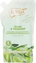 """Parfüm, Parfüméria, kozmetikum Folyékony krémszappan """"Olíva és joghurt"""" - Luksja Creamy Olive & Yogurt Soap (utántöltő)"""