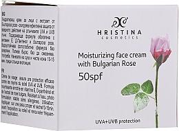 Parfüm, Parfüméria, kozmetikum Hidratáló arckrém SPF50 - Hristina Cosmetics Moisturizing Face Cream With Bulgarian Rose SPF50