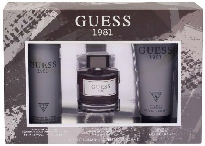 Guess 1981 For Men - Szett (edt/100ml + sh/gel/200ml + deo/226ml)