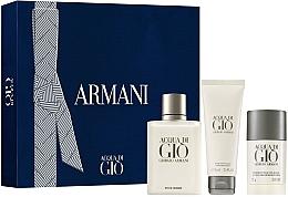 Parfüm, Parfüméria, kozmetikum Giorgio Armani Acqua Di Gio Pour Homme - Készlet (edt/100ml + deo/stick/75g + ash/balm/75 ml)