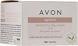 Parfüm, Parfüméria, kozmetikum nappali védő krém arcra zöld tea kivonattal - Avon Ageless Protacting Day Cream SPF 30