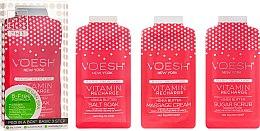 "Parfüm, Parfüméria, kozmetikum Pedikűr készlet ""Rózsaszín grapefruit"" - Voesh Pedi In A Box 3 In 1 Deluxe Pedicure Vitamin Recharge Pink Grapefruit"