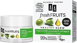 Parfüm, Parfüméria, kozmetikum Paszta-peeling arcra olivaolajjal - AA Fresh Fruits Healthy Glow