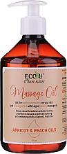 Parfüm, Parfüméria, kozmetikum Masszázsolaj - Eco U Massage Oil Sweet Apricot & Peach Oil