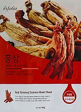 "Parfüm, Parfüméria, kozmetikum Szövetmaszk ""Ginzeng kivonat"" - Esfolio Red Ginseng Essence Mask Sheet"