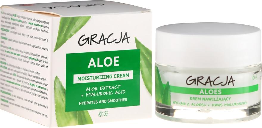 Ránctalanító hidratáló krém aloe verával és hialuronsavval - Gracja Aloe Moisturizing Face Cream