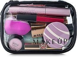 """Parfüm, Parfüméria, kozmetikum Neszeszer, átlátszó """"Visible Bag"""" (kozmetikumok nélkül) 15x10x5cm - MakeUp"""