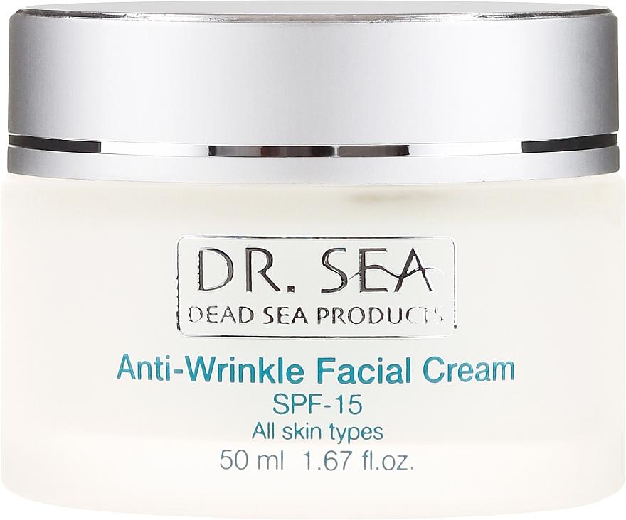 Ránctalanító krém SPF 15 - Dr. Sea Anti-Wrinkle Facial..