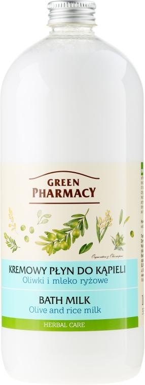 """Fürdőtej """"Olíva és rizstej"""" - Green Pharmacy — fotó N1"""