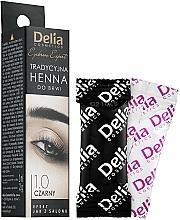 Parfüm, Parfüméria, kozmetikum Henna szemöldökfestő por, fekete - Delia Brow Dye Henna Traditional Black