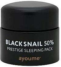 Parfüm, Parfüméria, kozmetikum Öregedésgátló éjszakai maszk fekete csigamucinnal - Ayoume Black Snail Prestige Sleeping Pack