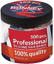 Parfüm, Parfüméria, kozmetikum Szilikon hajgumi, fekete - Ronney Professional Silicone Hair Bands