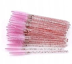 Parfüm, Parfüméria, kozmetikum Eldobható szempilla- és szemöldökkefe, áttettsző-rózsaszín - Lewer