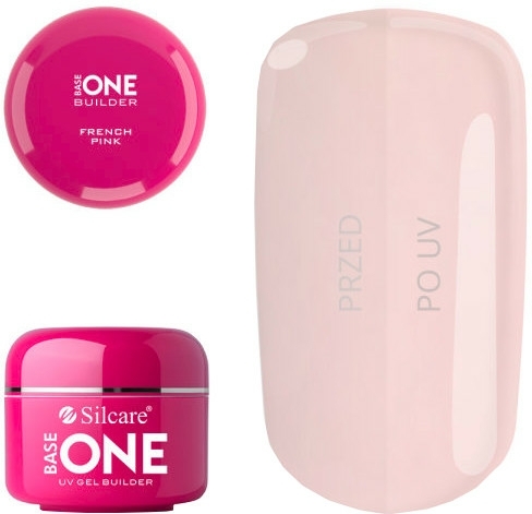 Körömépítő zselé - Silcare Uv Gel Builder Base One French Pink