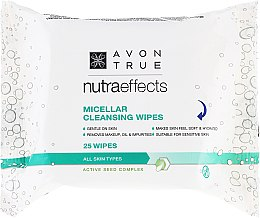 Parfüm, Parfüméria, kozmetikum Tisztító törlőkendő micellás vízzel - Avon Nutra Effects Micellar Cleansing Wipes