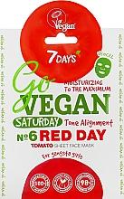 "Parfüm, Parfüméria, kozmetikum Szövet arcmaszk ""Red Day"" - 7 Days Go Vegan Saturday Red Day"