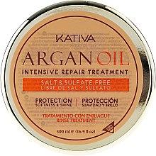 Intenzív hidratáló regeneráló hajmaszk argánolajjal - Kativa Argan Oil Intensive Repair Treatment — fotó N6