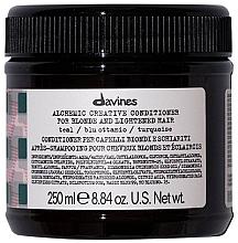 Parfüm, Parfüméria, kozmetikum Balzsam természetes és festett hajra (türkíz) - Davines Alchemic Conditioner Teal