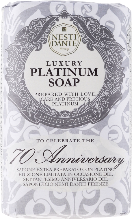 "Szappan ""Platina"" - Nesti Dante Luxury Platinum Soap 70th Anniversary"