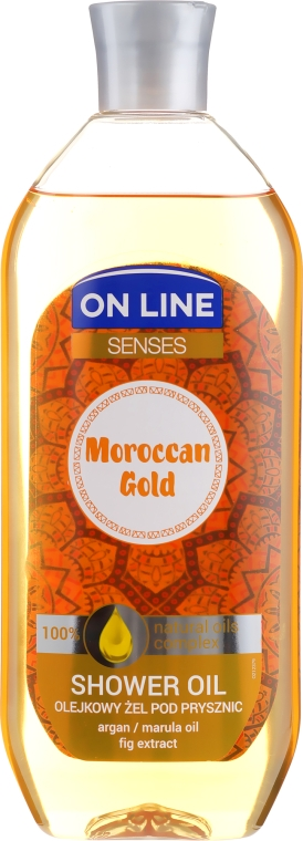 Tusfürdő olaj - On Line Senses Shower Oil Moroccan Gold