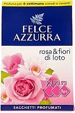 """Parfüm, Parfüméria, kozmetikum Aroma tasak """"Rózsa és lótusz"""" - Felce Azzurra Sachets Rose and Flowers Of Lotus"""