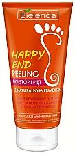 Parfüm, Parfüméria, kozmetikum Lábápoló peeling - Bielenda Happy End Peeling Feet And Heels With A Pumice Stone Natural