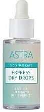 Parfüm, Parfüméria, kozmetikum Gyorsszárító cseppek - Astra Make-up Sos Nails Care Express Dry Drops
