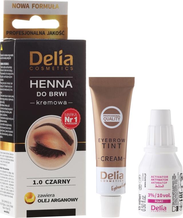 Szemöldök festék - Delia Cosmetics Cream Eyebrow Dye