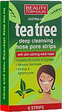 Parfüm, Parfüméria, kozmetikum Pórustisztító tapasz orra - Beauty Formulas Tea Tree Deep Cleansing Nose Pore Strips