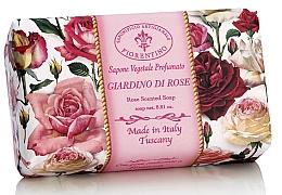 """Parfüm, Parfüméria, kozmetikum Natúr szappan """"Rózsa kert"""" - Saponificio Artigianale Fiorentino Rose Garden Scented Soap"""