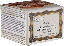 Parfüm, Parfüméria, kozmetikum Anti age arckrém - Sostar Anti-Ageing Face Cream SPF50 with Donkey Milk