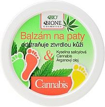 Parfüm, Parfüméria, kozmetikum Lábápoló balzsam - Bione Cosmetics Cannabis Heel Balm Removes Hard Skin