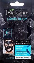 Parfüm, Parfüméria, kozmetikum Arctisztító maszk szénnel száraz bőrre - Bielenda Carbo Detox Cleansing Mask Dry and Sensitive Skin