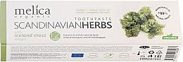 "Parfüm, Parfüméria, kozmetikum Fogkrém ""Skandinávia gyógyövényei"" - Melica Organic Toothpaste Scandinavian Herbs With Iceland Moss Extract"