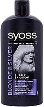 Parfüm, Parfüméria, kozmetikum Sampon-sárga tónust neutralizáló - Syoss Blond & Silver Shampoo