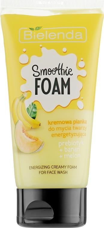"""Energizáló tisztítóhab """"Sárgadinnye és banán"""" - Bielenda Smoothie Foam Banana And Melon"""