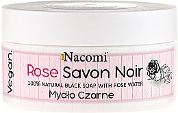 "Parfüm, Parfüméria, kozmetikum Fekete szappan ""Rózsavíz"" - Nacomi Savon Noir Natural Black Soap with Rode Water"